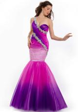 Party Time Dresses 6097.  Available in Ombre Fuchsia/Purple, Ombre Lime, Ombre Orange
